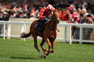 Daahyeh on her way to winning the Albany Stakes at Royal Ascot (Mike Egerton/PA)